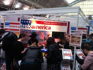Trek America discounts at the TNT Travel Show, London 2013
