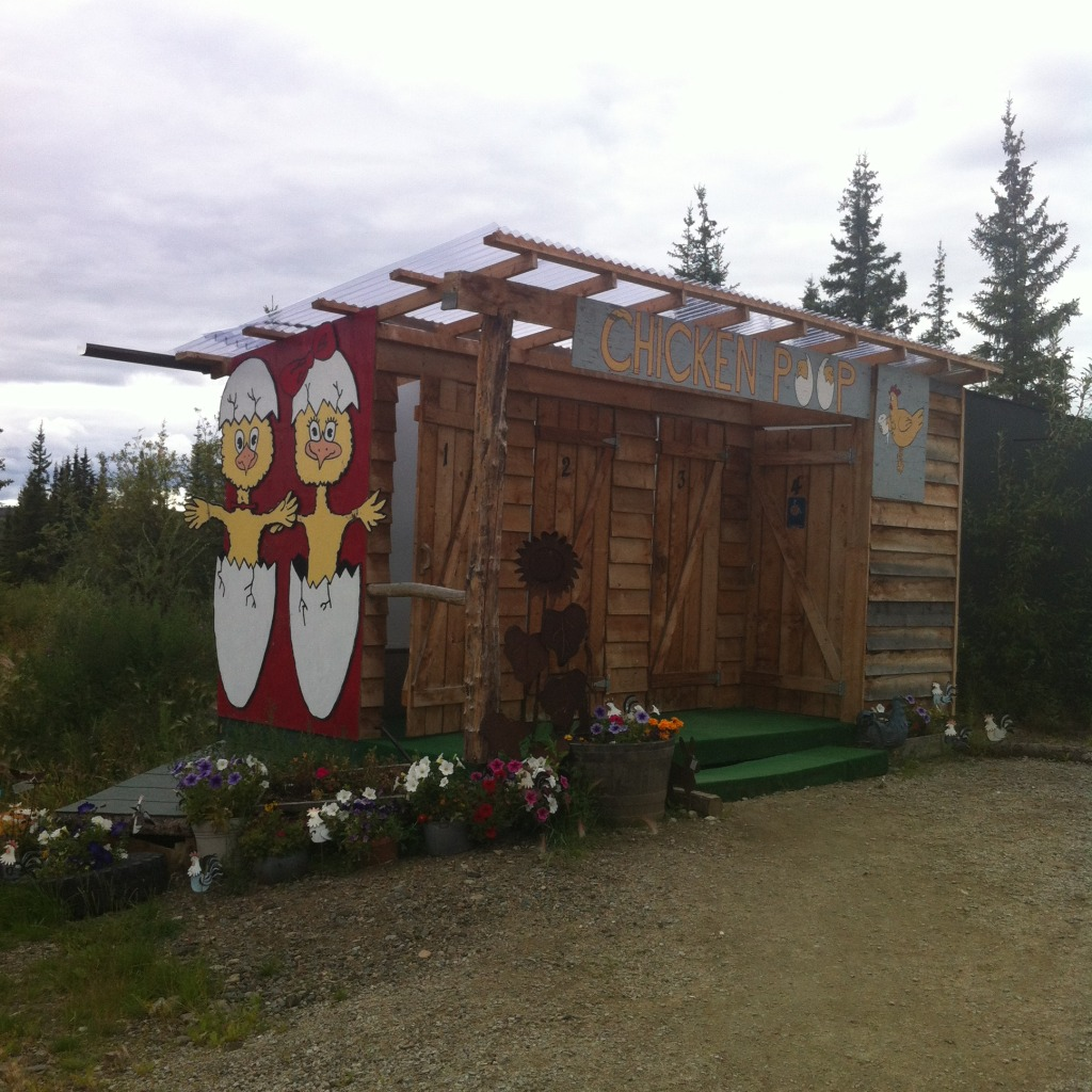 "Chicken, Alaska: ""Chicken Poop"" outdoor facilities"